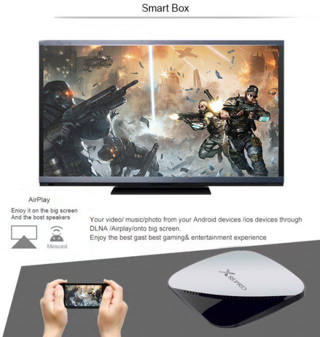 TV Box Android 10 4G RAM 32G 64F ROM 2.4G/5G Wifi Youtube Netflix Google Player